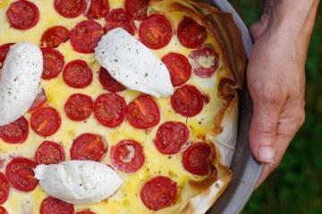 Tarte à la tomate et mozzarella - Photo par PourDeBon