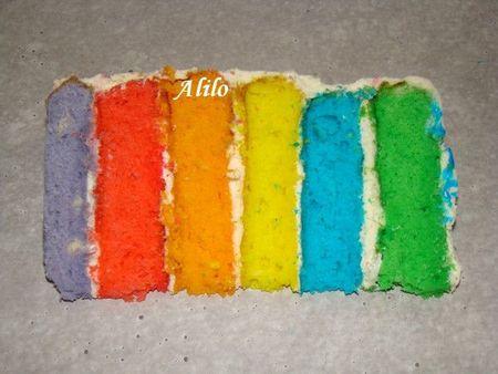 Rainbow Cake facile - Photo par Les Gâteaux Magiques d'Alilo
