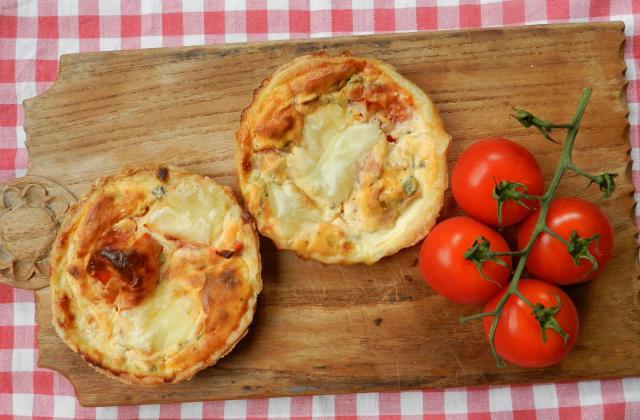 Tartelettes échalotes, tomates et pancetta - Photo par Babeth De Lille