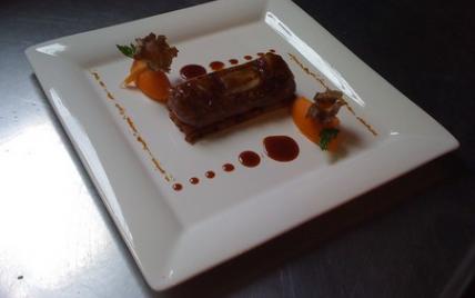 Le Filet de chevreuil à la feuille de datte et salsifis dorés de Philippe Bohrer - Photo par Restaurant Au Crocodile