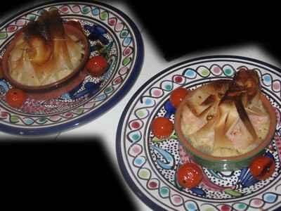 Aumônière de caviar d'aubergine, mousse de saumon et saumon fumé - Photo par 750g