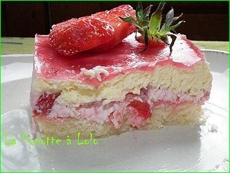 Petits bavarois fraises et chocolat blanc - Photo par lapopottealolo