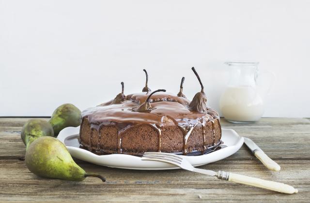 Gâteau au chocolat et poires - Photo par 750g