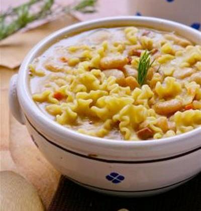 """Soupe de Haricots Tarbais à l""""Italienne et pâtes par Silvia Santucci - Photo par Haricot Tarbais Tradition"""