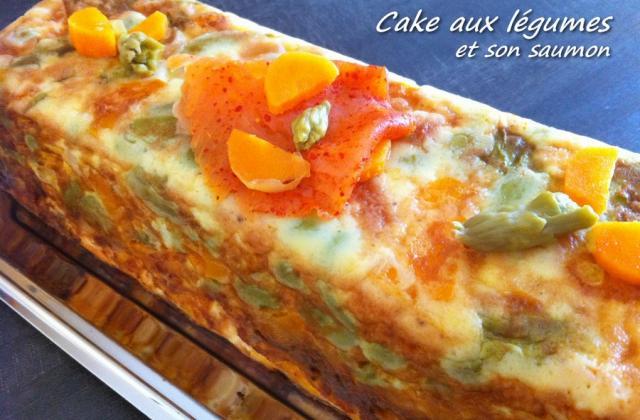 Cake aux légumes et son saumon - Photo par Gut