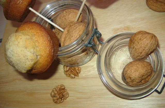 Muffin à la pomme et aux noix - Photo par aquiliD