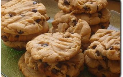 Cookies au beurre de cacahuetes et pépites de chocolat - Photo par lylouf