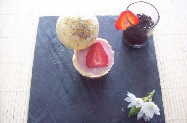 Sphère de chocolat blanc et gariguettes - Photo par dalyz