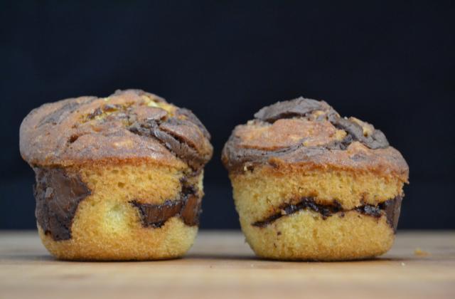 Muffins marbrés au Nutella - Photo par 750g