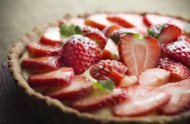 Tarte aux fraises et à la crème pâtissière - Photo par 750g
