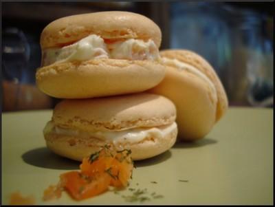 Macarons au saumon fumé et ricotta - Photo par pouicp
