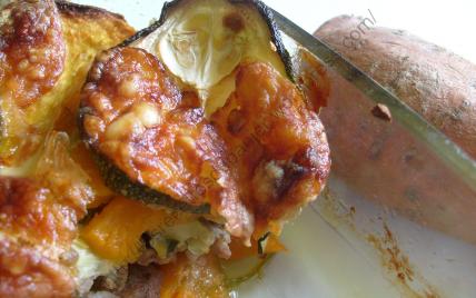 Gratin de courgettes, patates douces et viande hachée - Photo par Anne Les Recettes Du Panier