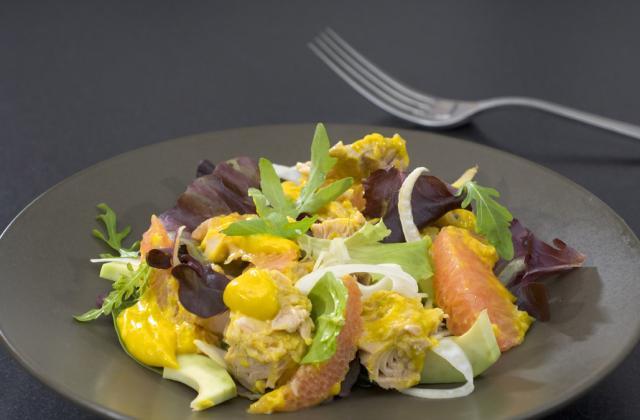 Salade fraîche thon, pamplemousse et moutarde - Photo par Amora