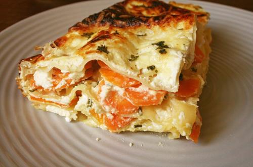 Lasagnes aux carottes et à la feta - Photo par Aux bons p'tits prat