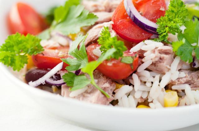 Salade de riz au fromage de brebis Etorki - Photo par 750g