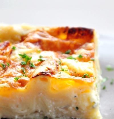 Lasagnes blanches aux 3 fromages (comté, chèvre & bleu) - Photo par mathildee