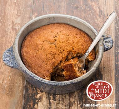 Gâteau moelleux à la crème de marrons et à l'huile d'olive - Photo par Gislain Lefranc