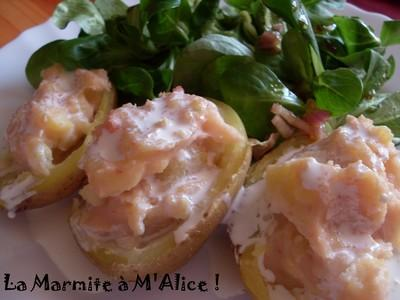Pommes de terre farcies jambon - cancoillotte - Photo par sorcilili