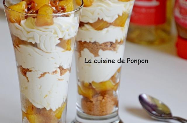 Verrine d'ananas flambé et crème mascarpone - Photo par Ponpon