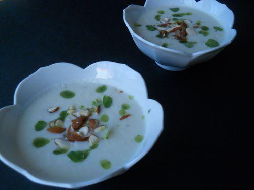 """Ajo blanco de fenouil, amandes et huile d""""origan - Photo par mumuko"""