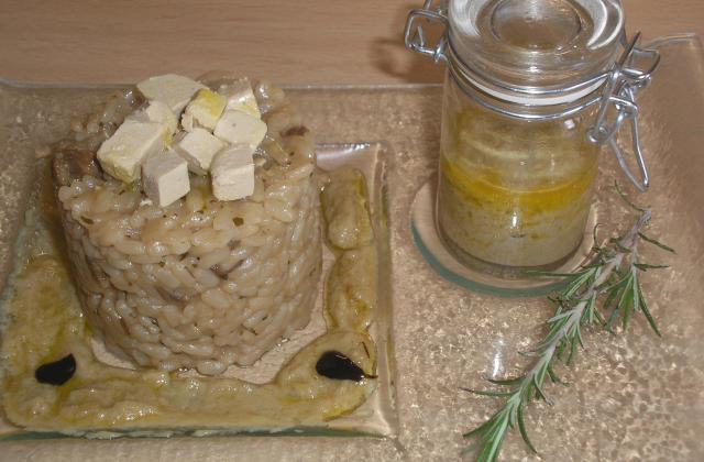 Risotto aux cèpes sauce au foie gras - Photo par mhouda