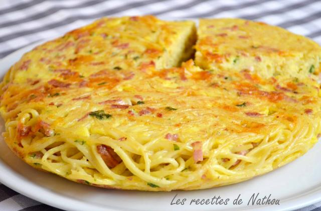 Gâteau de spaghettis aux lardons et cheddar - Photo par Communauté 750g