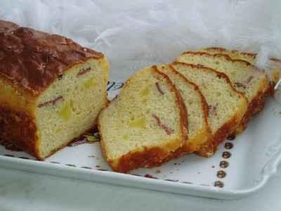 Cake au magret de canard fumé et aux pommes - Photo par newelm