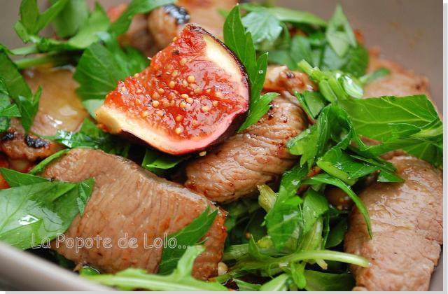 Salade tiède de filet d'agneau presto... - Photo par lapopotedelolo