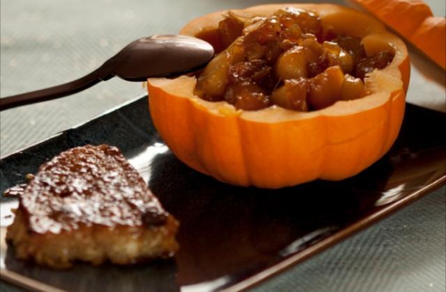 Brioche perdue et fruits d'automne, caramel beurre salé - Photo par ademay