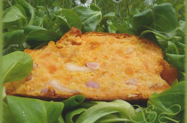 Cake de carottes, lardons-cantal - Photo par Blog d'Elisa
