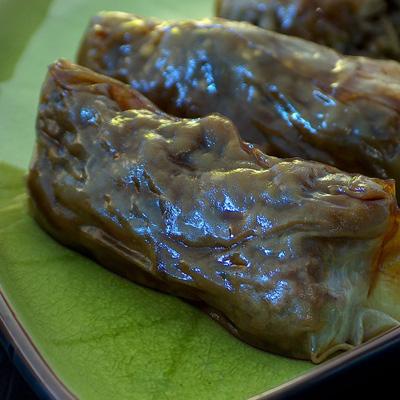 Nems aubergine et viande hachée - Photo par karencx