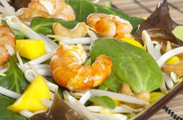 Salade Asiatique relevée - Photo par Amora