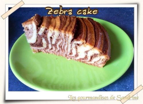 Zebra cake menthe chocolat - Photo par Les gourmandises de Sandrine
