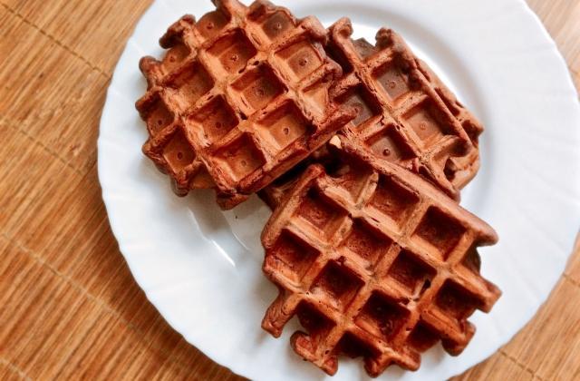 Gaufres vegan et fitness au chocolat - Photo par cherrycordia