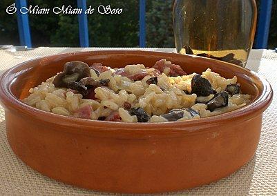 Risotto aux gésiers de canard et champignons - Photo par soso78410
