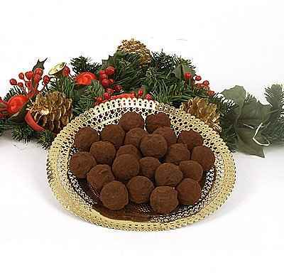 Truffes de Noël à l'Amaretto - Photo par Marie France Luijkx
