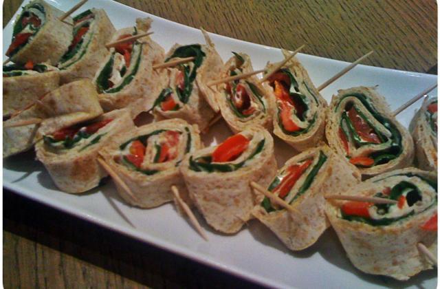 """Wrap de chapathi 'Antipasti à l""""indienne' - Photo par Bollywood Kitchen"""