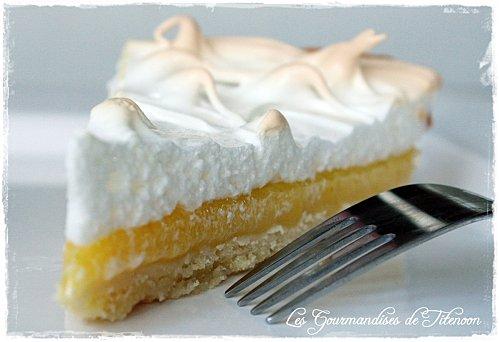 Tarte au citron et sa meringue - Photo par Les Gourmandises de Titenoon