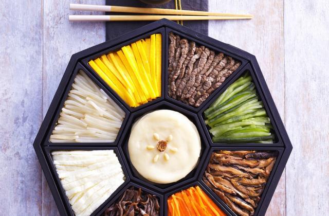 Gujeolpan - Plat composé de 9 délices coréens - Photo par AT Korea