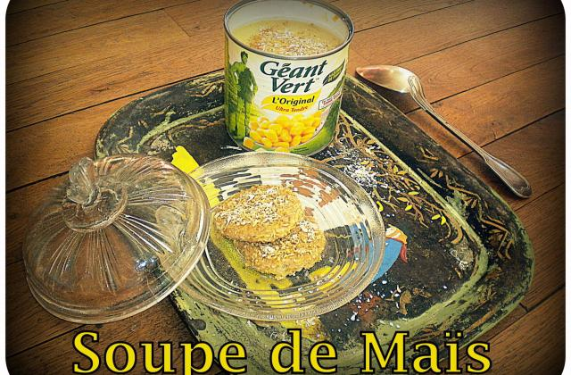 Soupe de maïs et croquette de foie gras - Photo par La petite cuisine de Sabine