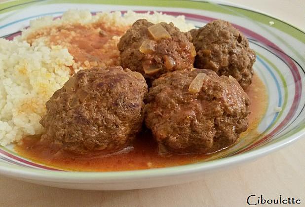 Boulettes de boeuf à la marocaine - Photo par ciboulette57