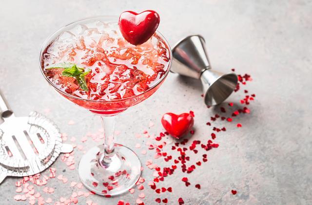 Cocktail saint valentin - Photo par 750g