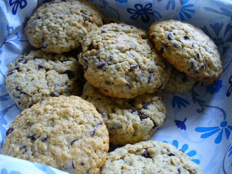 Cookie aux pépites de chocolat et flocons d'avoine - Photo par lucy22