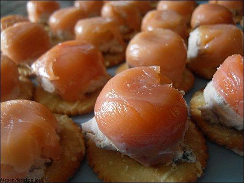Bouchées au thon et au saumon fumé - Photo par mesenviesetdelices