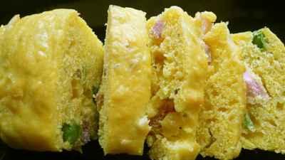 Cake petits pois, lardons, sauge et curcuma - Photo par flaoua