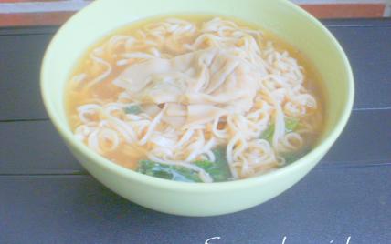 Soupe chinoise aux ravioles maison - Photo par adelinaK