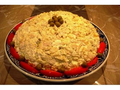 Salade de poulet à la crème aigre - Photo par Barbara1