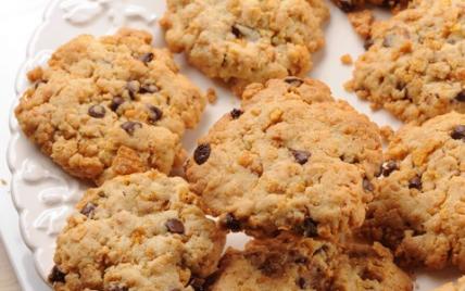 Cookies corn flakes et pépites de chocolat - Photo par Passion Céréales
