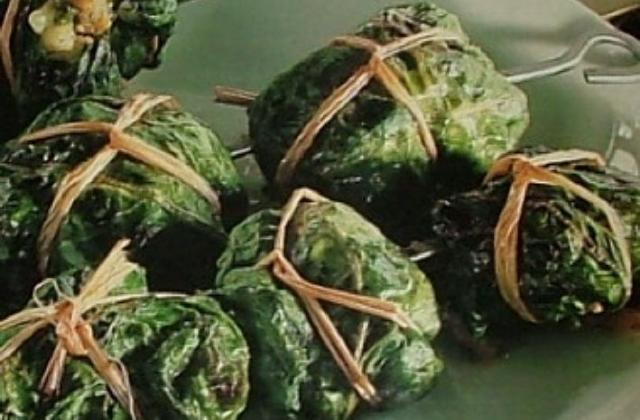 Paupiettes de risotto en brochettes - Photo par capali