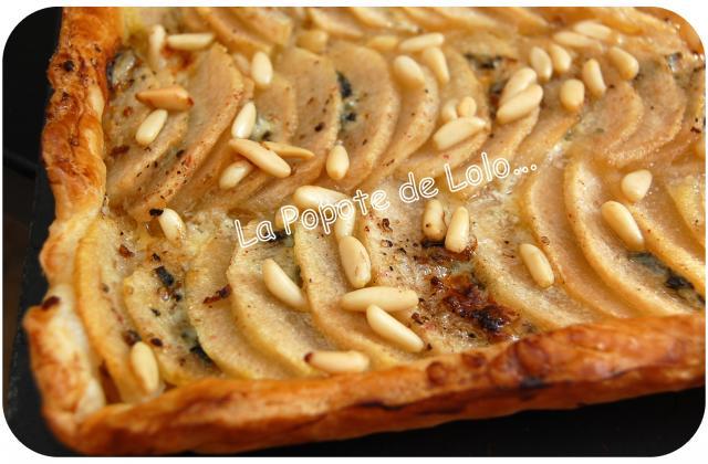 Tarte roquefort, poires, miel - Photo par lapopotedelolo